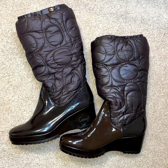 Coach Brown Cantina Boots